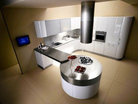 полуостровная кухня