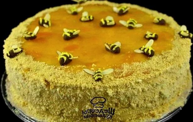 сметанник с мёдом