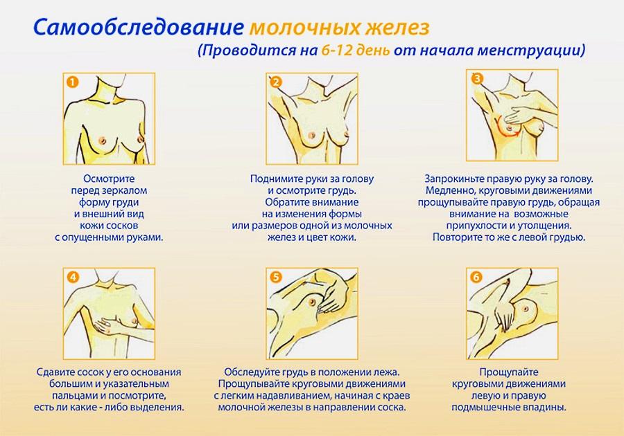 проверка груди на заболевания