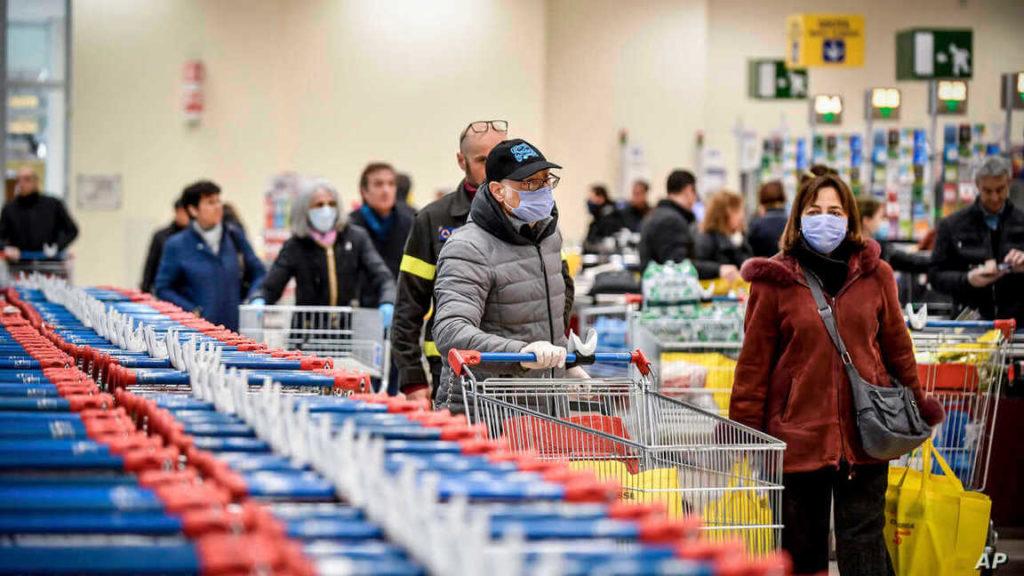 Покупки во время пандемии коронавируса